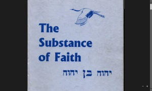 The Substance of Faith